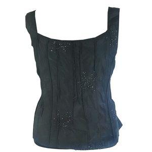 Krista Larson Venetian black Silk Cami